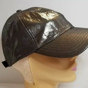 New Disney Parks Grey Lame Shimmery Silver Hat